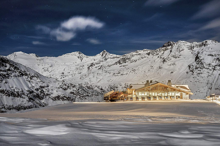Mountain Hut by night, Obergurgl - Tyrol
